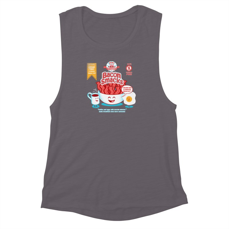 Bacon Smacks Women's Muscle Tank by Charity Ryan