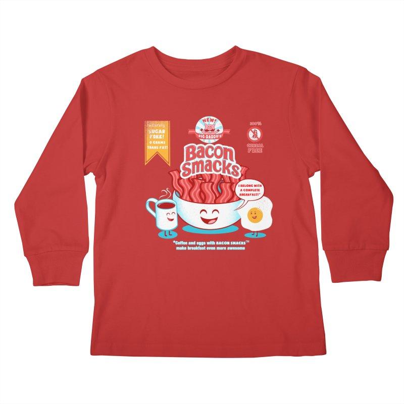 Bacon Smacks Kids Longsleeve T-Shirt by Charity Ryan