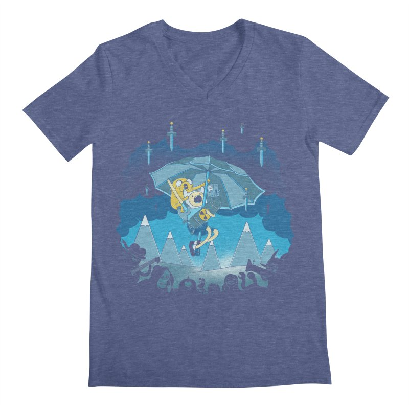 Rainy Day Adventure Men's V-Neck by Charity Ryan