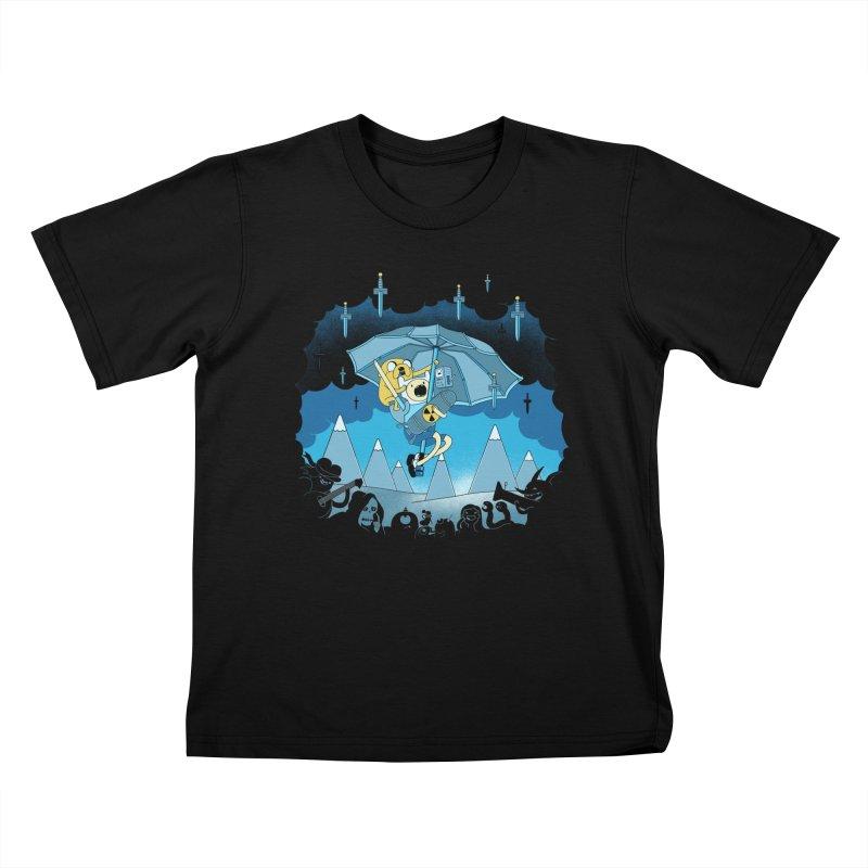 Rainy Day Adventure Kids T-Shirt by Charity Ryan