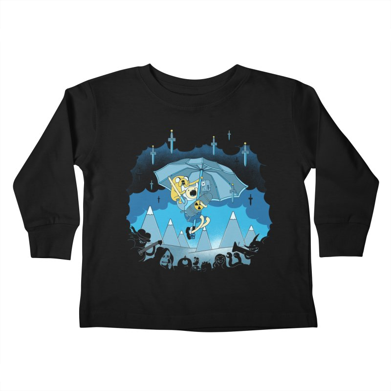 Rainy Day Adventure Kids Toddler Longsleeve T-Shirt by Charity Ryan