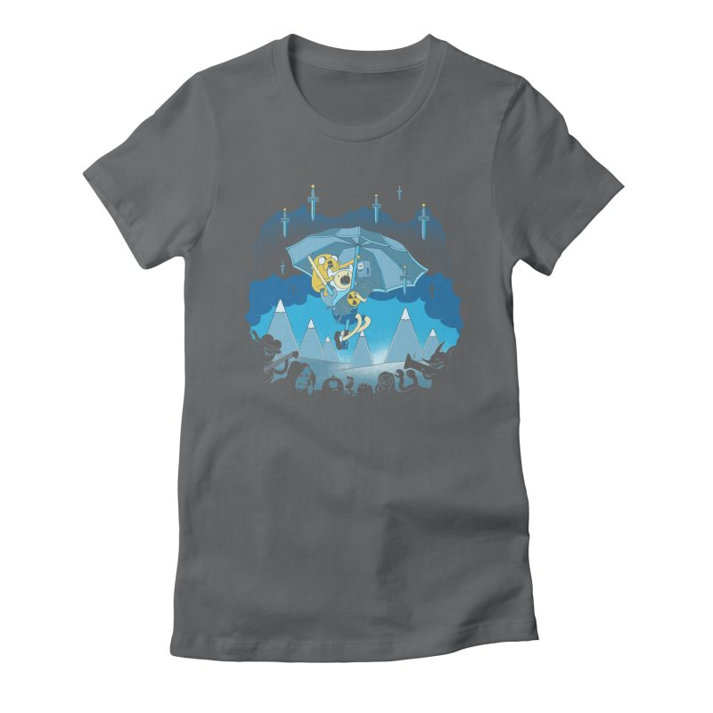 Rainy Day Adventure Women's Fitted T-Shirt by Charity Ryan
