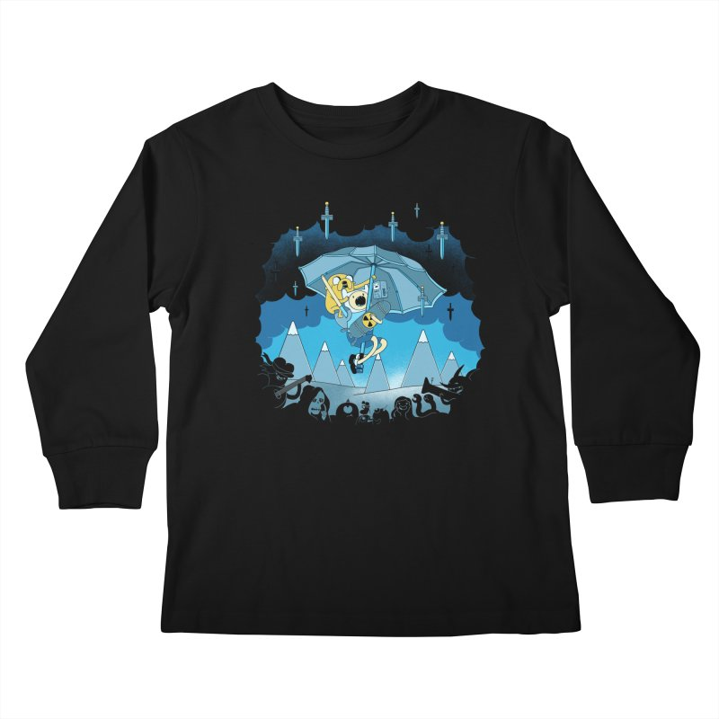 Rainy Day Adventure Kids Longsleeve T-Shirt by Charity Ryan