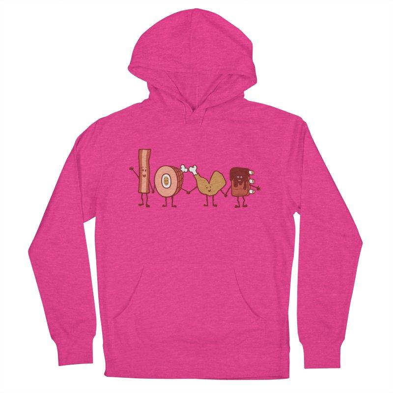 Meat Love U Women's Pullover Hoody by Charity Ryan