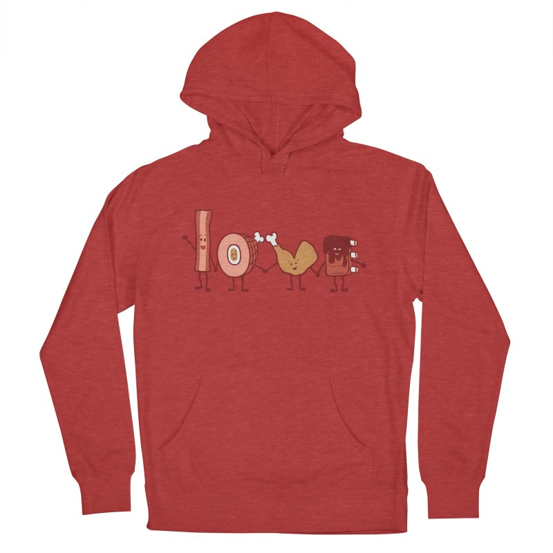 Meat Love U Men's Pullover Hoody by Charity Ryan