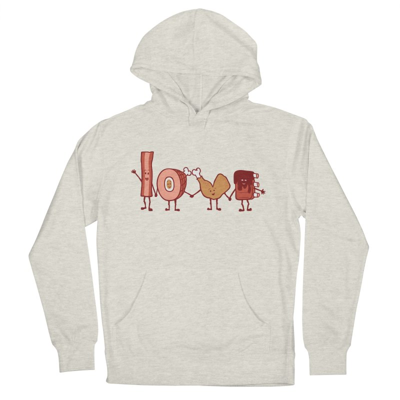 Meat Love U Men's Pullover Hoody by Charity Ryan