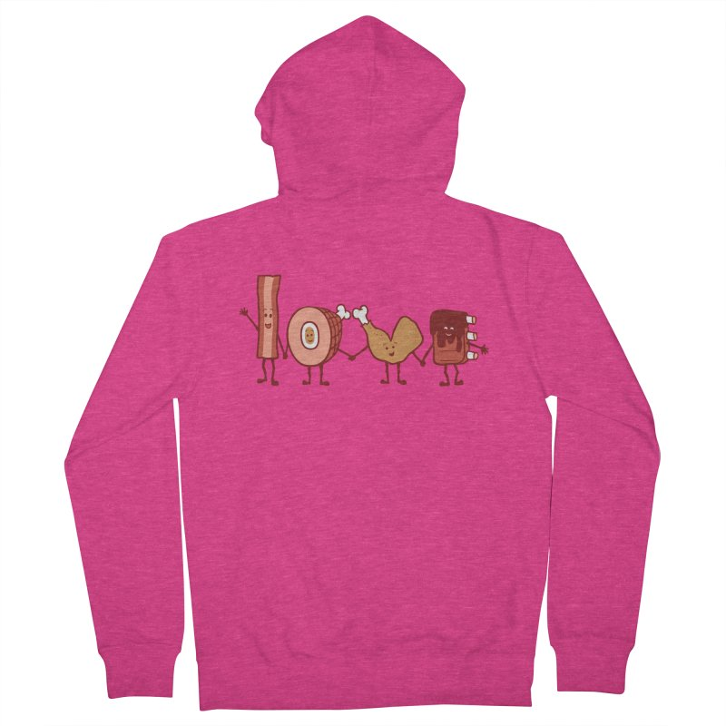 Meat Love U Women's Zip-Up Hoody by Charity Ryan