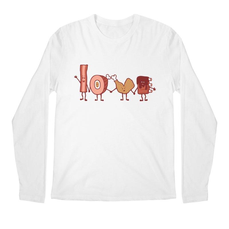 Meat Love U Men's Longsleeve T-Shirt by Charity Ryan