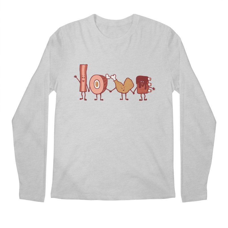 Meat Love U Men's Longsleeve T-Shirt by Charity Ryan