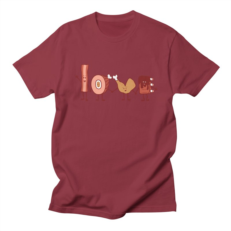 Meat Love U Men's T-Shirt by Charity Ryan