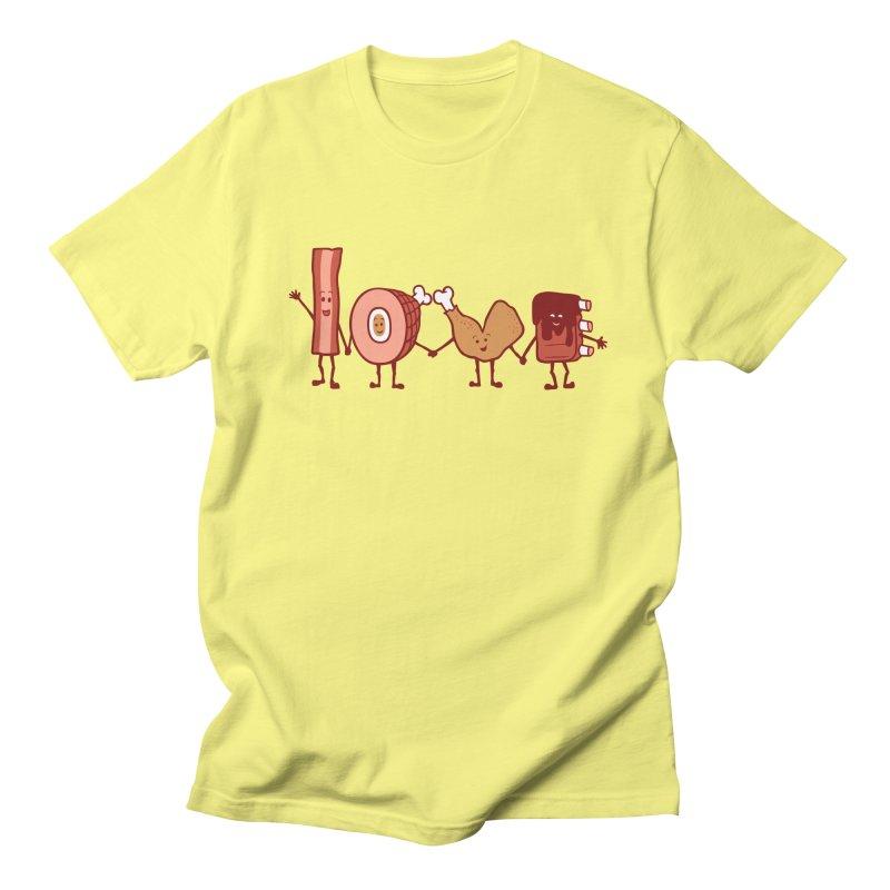Meat Love U Men's T-Shirt by Charity Ryan