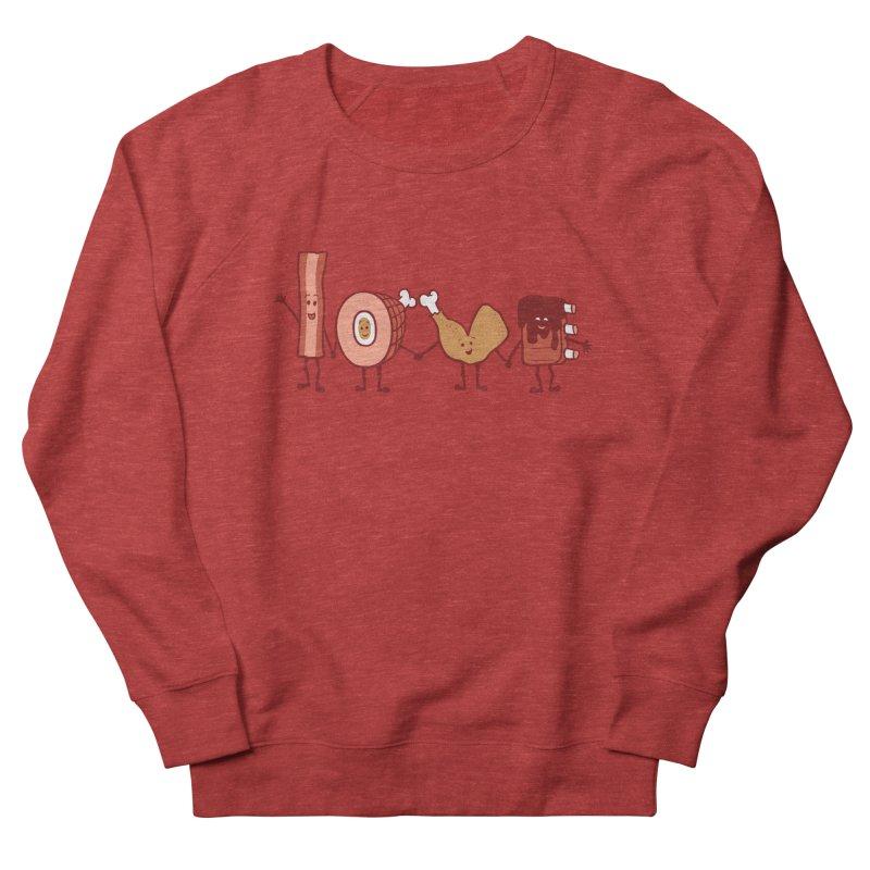 Meat Love U Men's Sweatshirt by Charity Ryan