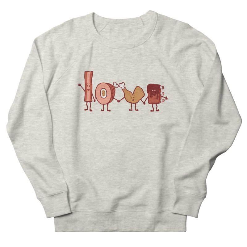 Meat Love U Men's Sweatshirt by Charity Ryan