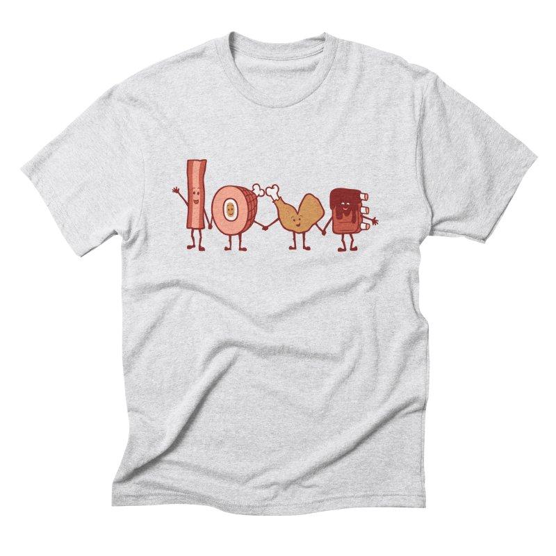 Meat Love U Men's Triblend T-Shirt by Charity Ryan