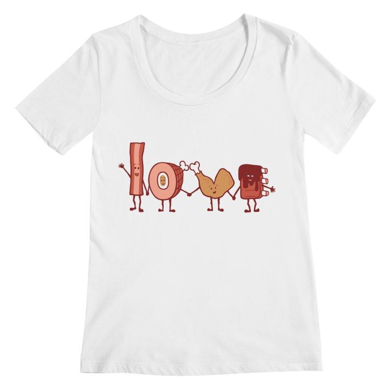 Meat Love U Women's Scoopneck by Charity Ryan