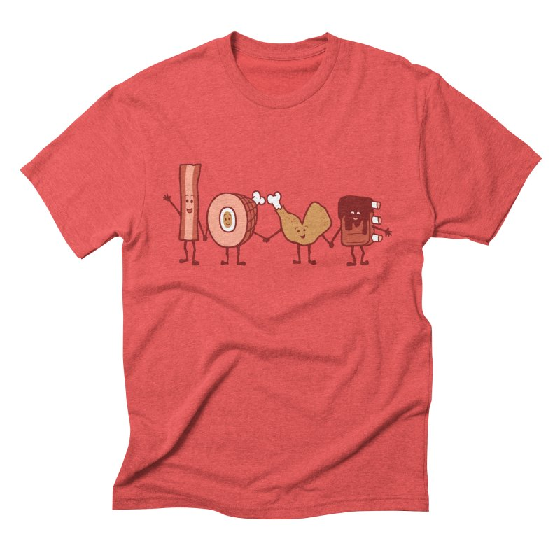 Meat Love U Men's Triblend T-shirt by Charity Ryan
