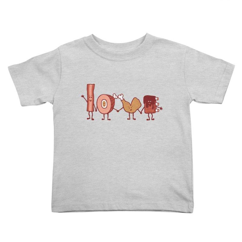 Meat Love U Kids Toddler T-Shirt by Charity Ryan