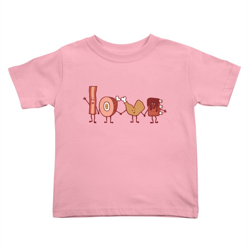 Meat Love U Kids Toddler T-Shirt by Charity Ryan