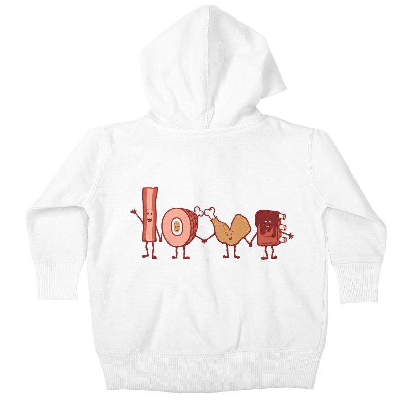 Meat Love U Kids Baby Zip-Up Hoody by Charity Ryan