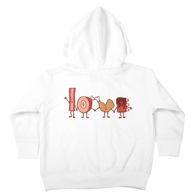 Meat Love U Kids Toddler Zip-Up Hoody by Charity Ryan