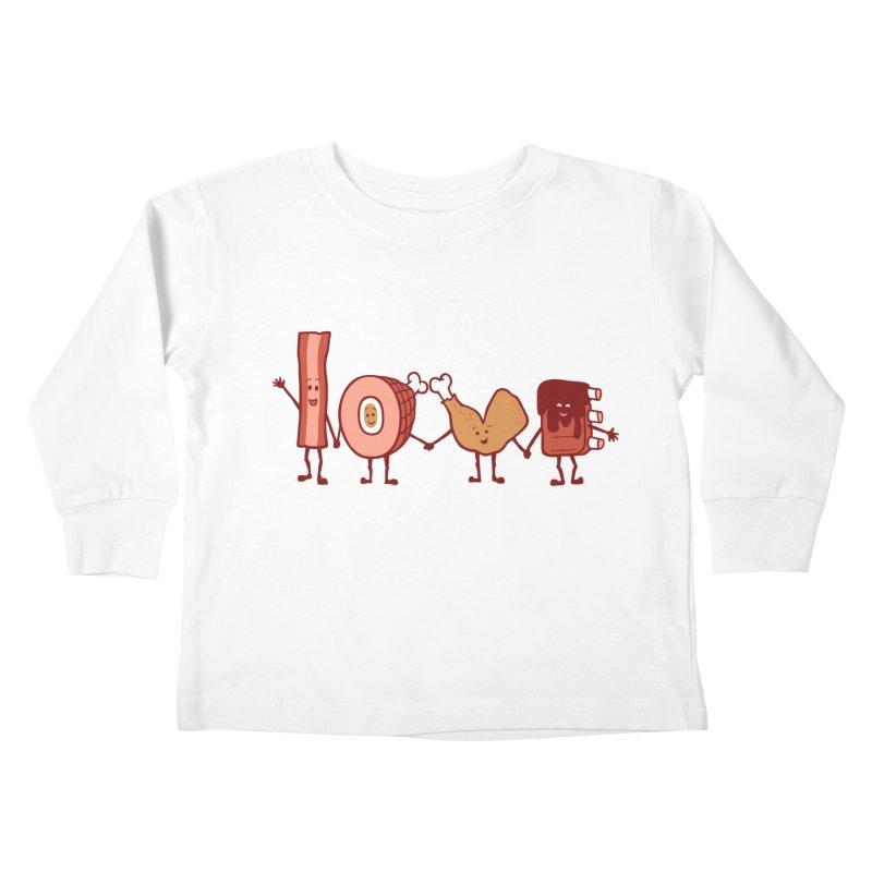 Meat Love U Kids Toddler Longsleeve T-Shirt by Charity Ryan