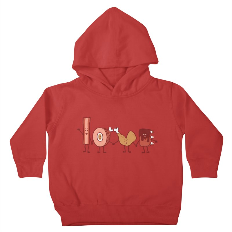 Meat Love U Kids Toddler Pullover Hoody by Charity Ryan