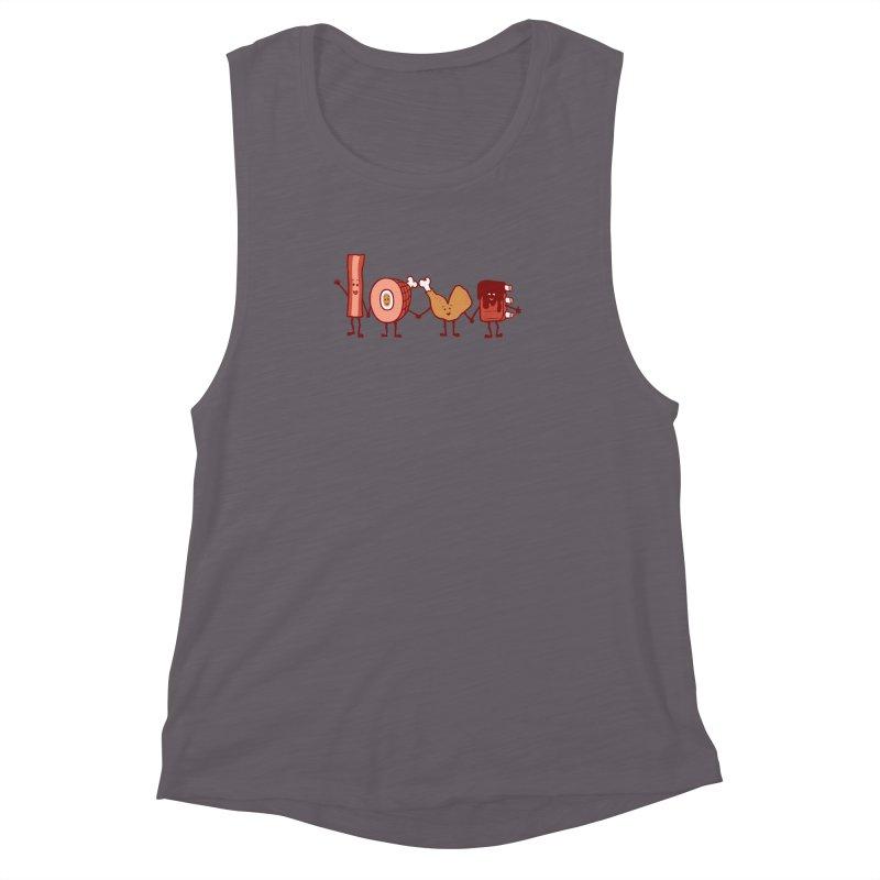 Meat Love U Women's Muscle Tank by Charity Ryan