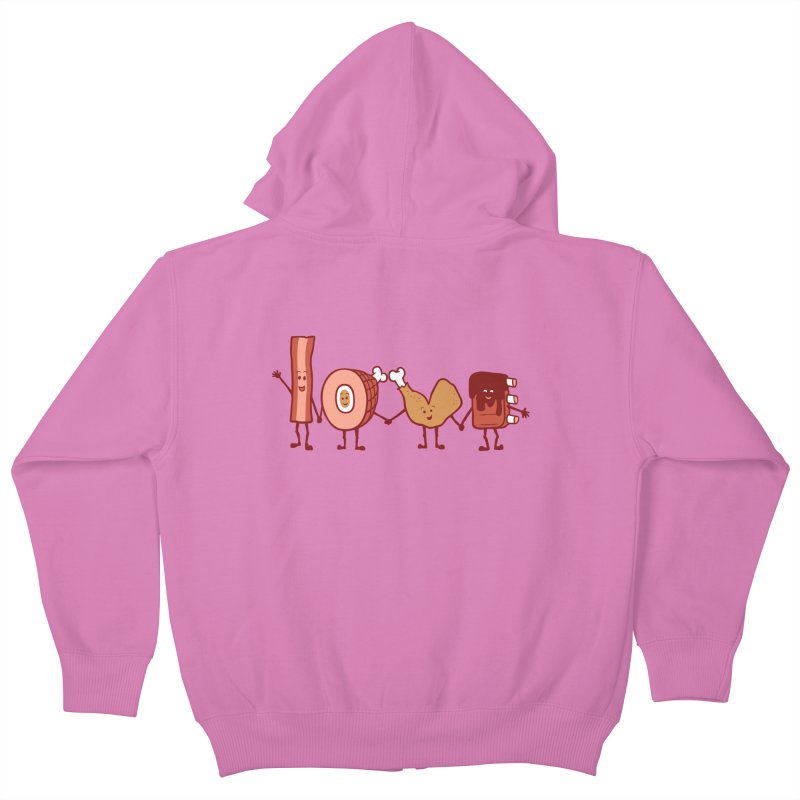 Meat Love U Kids Zip-Up Hoody by Charity Ryan