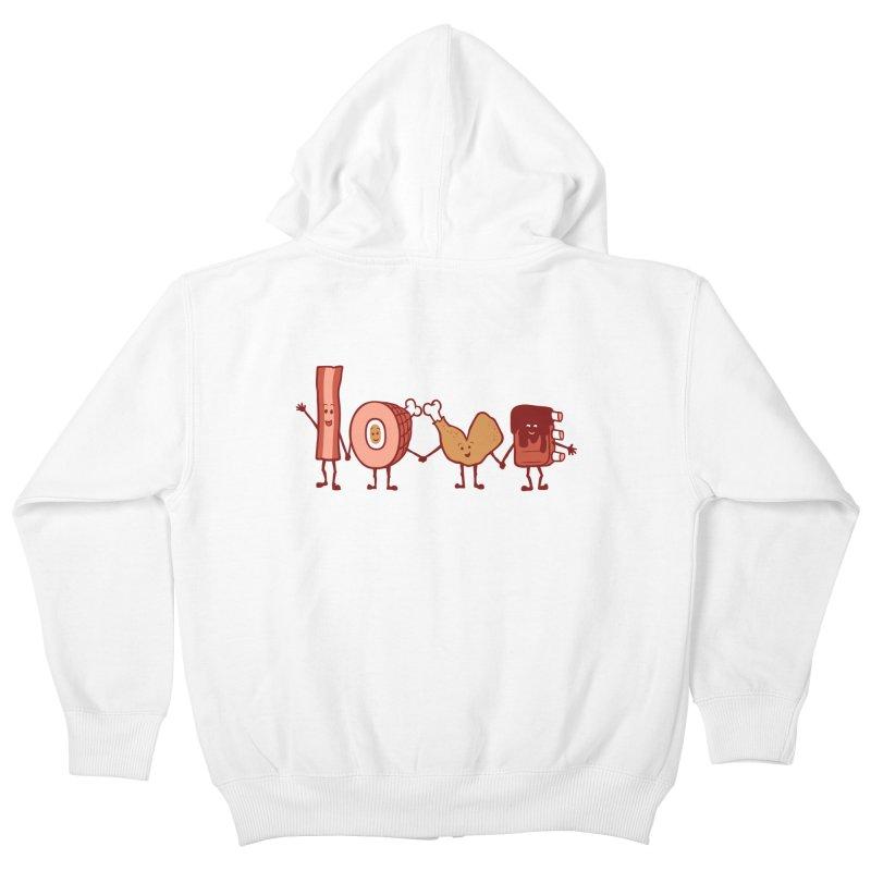 Meat Love U Kids Zip-Up Hoody by Charity Ryan
