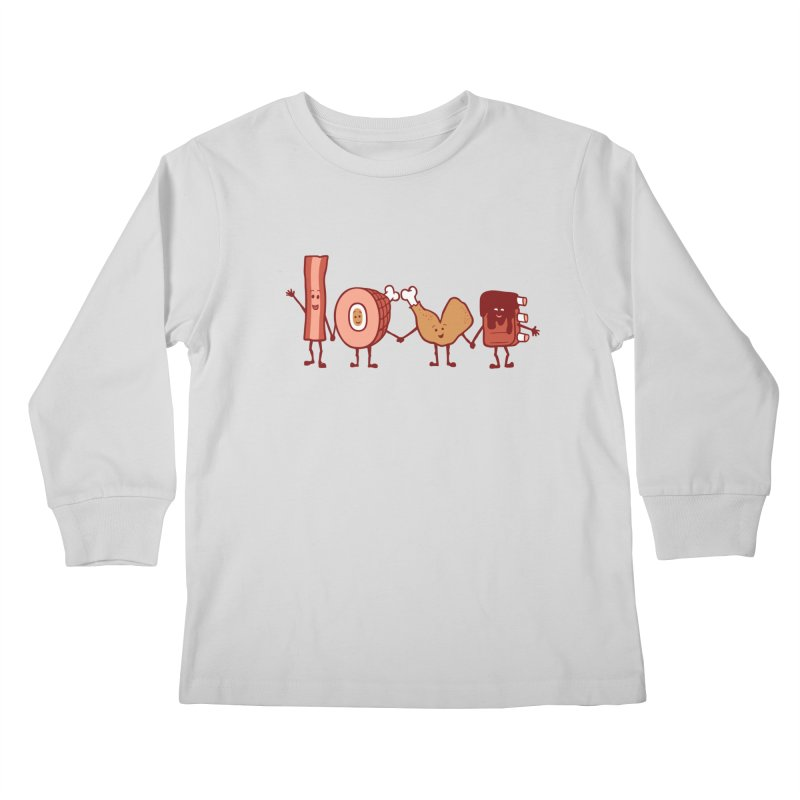 Meat Love U Kids Longsleeve T-Shirt by Charity Ryan