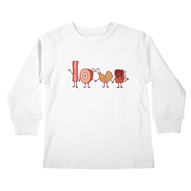 Meat Love U Kids Longsleeve T-Shirt by Charity Ryan