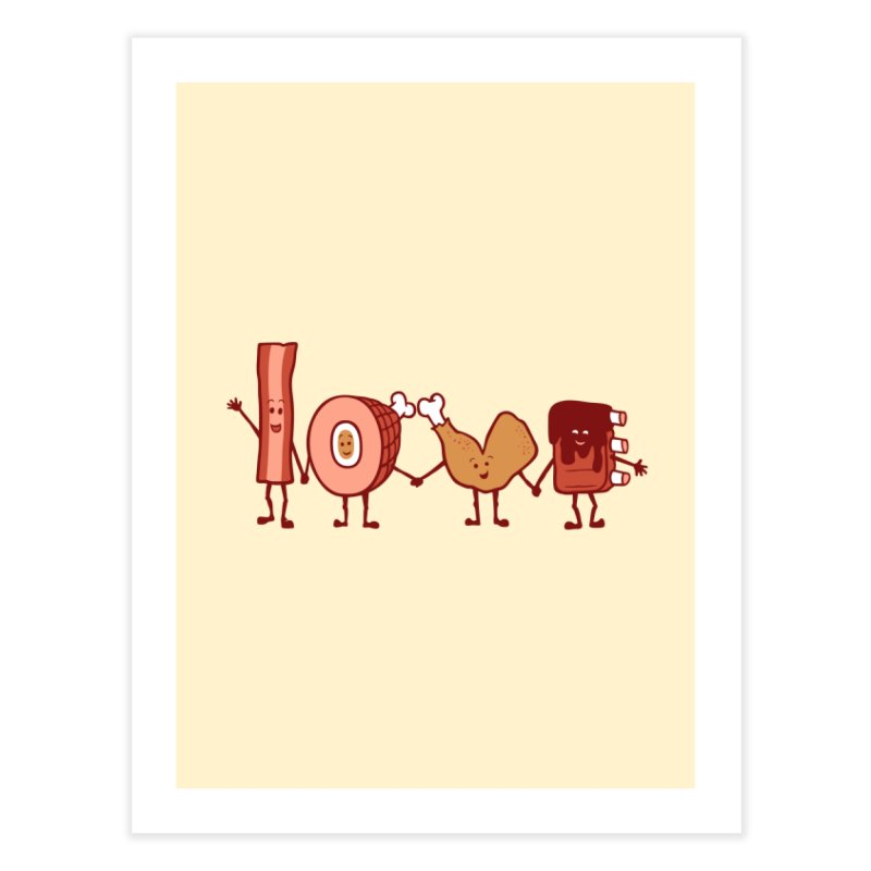 Meat Love U Home Fine Art Print by Charity Ryan