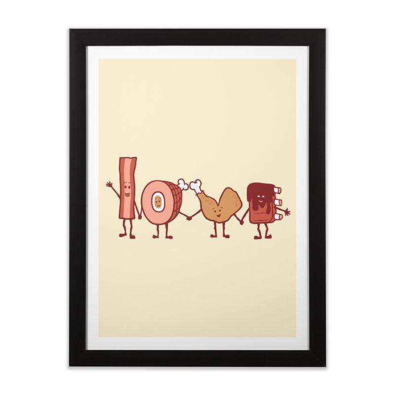 Meat Love U Home Framed Fine Art Print by Charity Ryan