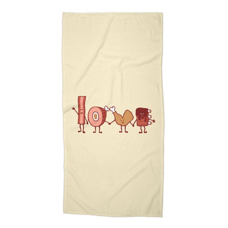 Meat Love U Accessories Beach Towel by Charity Ryan