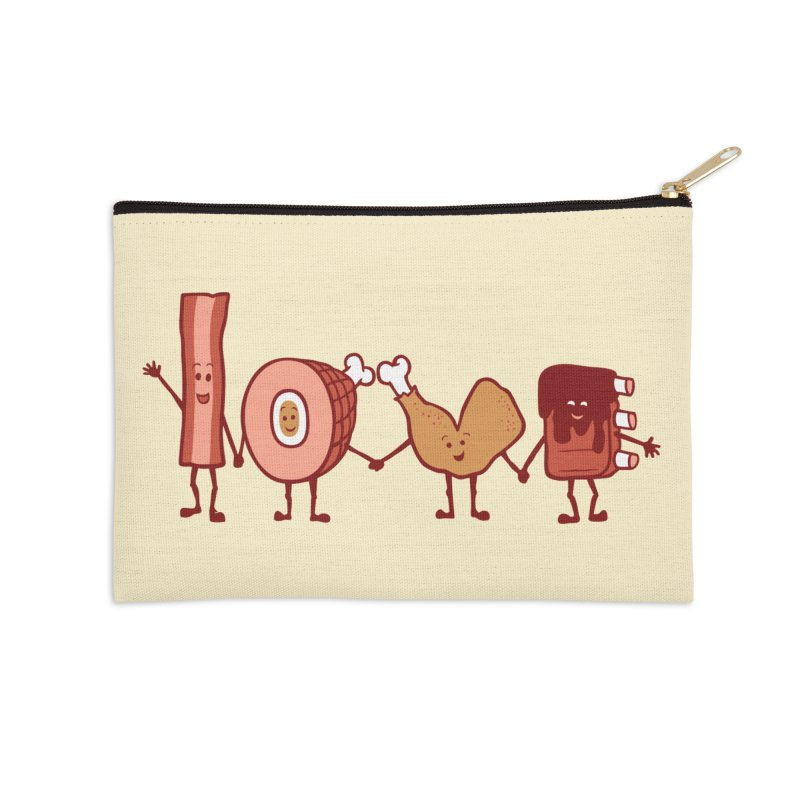 Meat Love U Accessories Zip Pouch by Charity Ryan