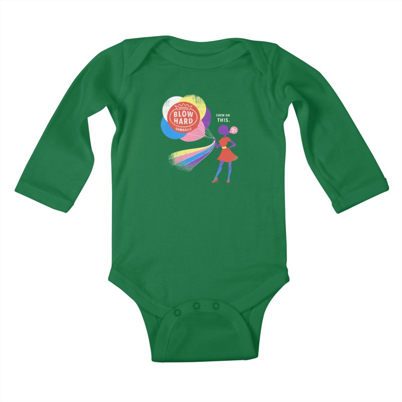 Blow Hard Kids Baby Longsleeve Bodysuit by Charity Ryan