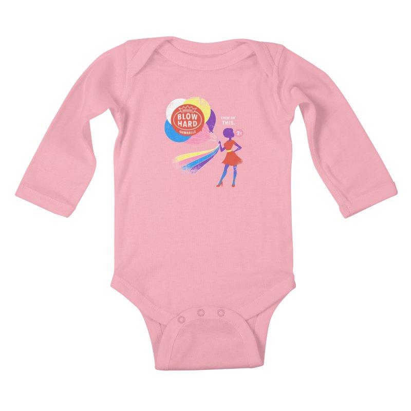 Blow Hard Kids Baby Longsleeve Bodysuit by Charity Ryan