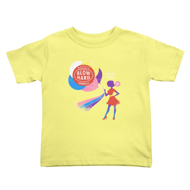 Blow Hard Kids Toddler T-Shirt by Charity Ryan