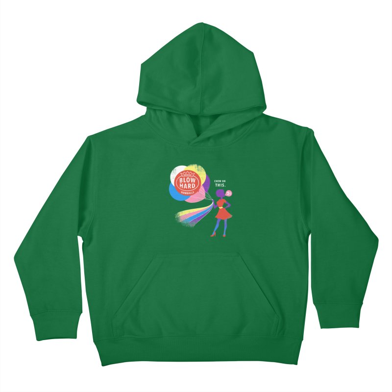 Blow Hard Kids Pullover Hoody by Charity Ryan