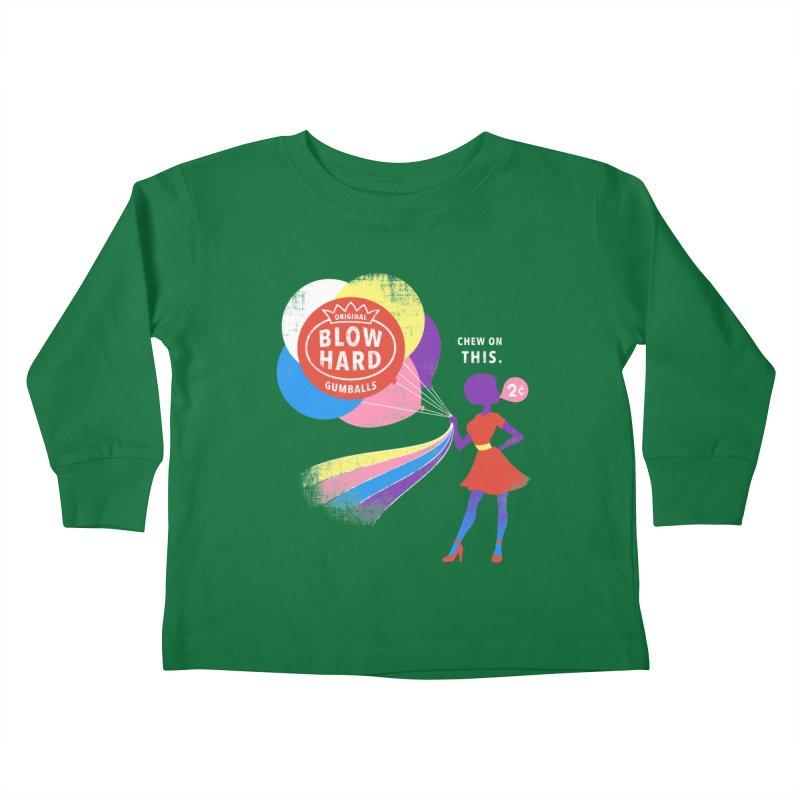 Blow Hard Kids Toddler Longsleeve T-Shirt by Charity Ryan