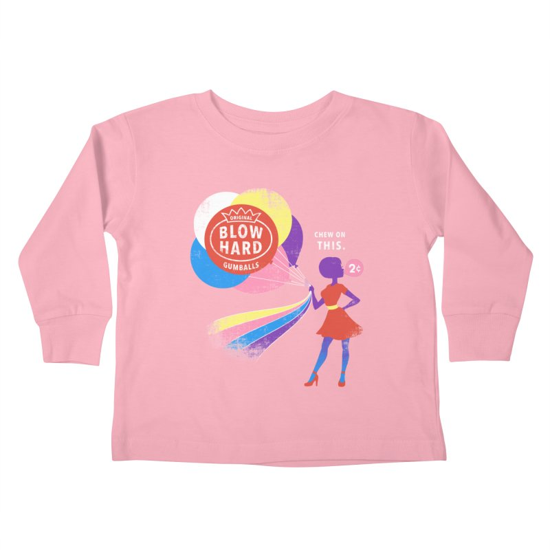 Blow Hard Kids Toddler Longsleeve T-Shirt by Charity Ryan