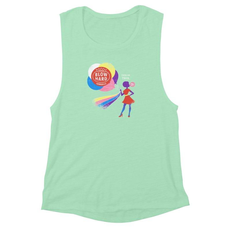 Blow Hard Women's Muscle Tank by Charity Ryan