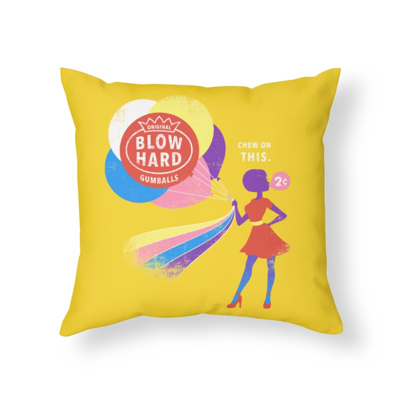 Blow Hard Home Throw Pillow by Charity Ryan