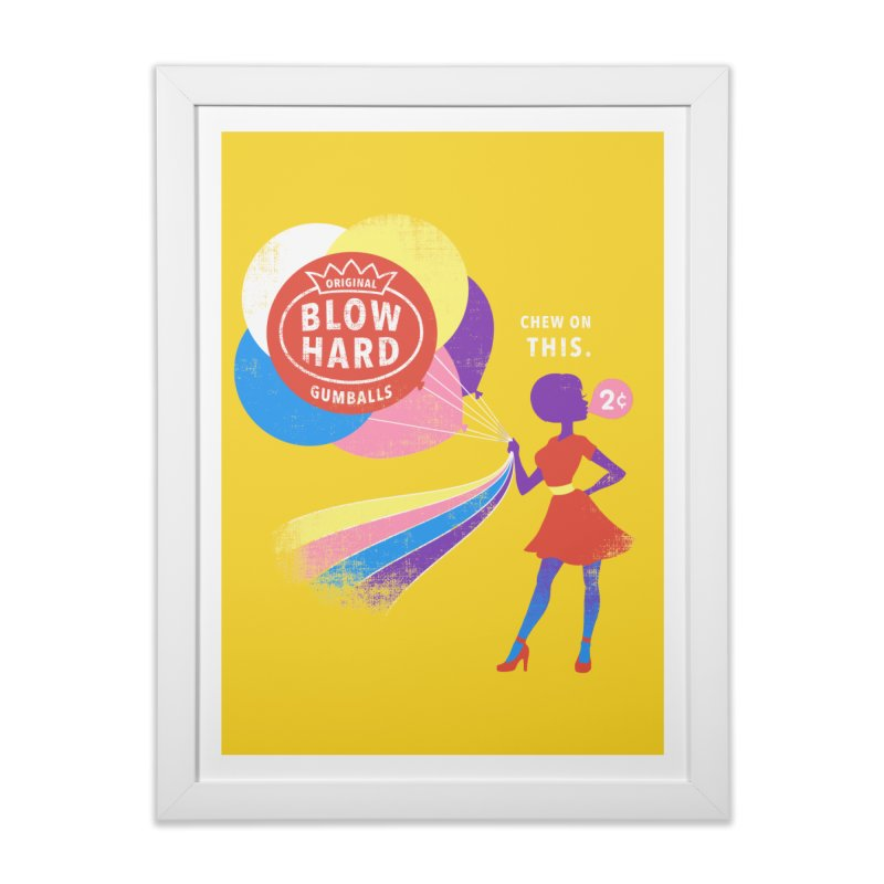 Blow Hard Home Framed Fine Art Print by Charity Ryan