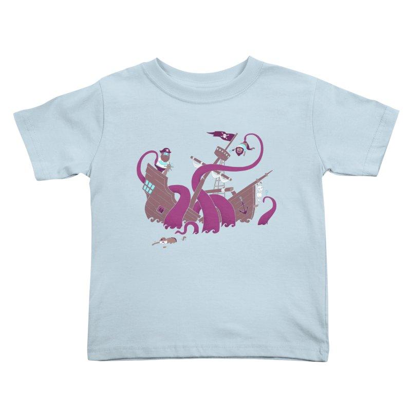 Phil McKraken Kids Toddler T-Shirt by Charity Ryan