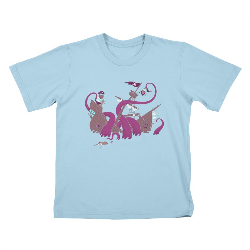 Phil McKraken Kids T-Shirt by Charity Ryan
