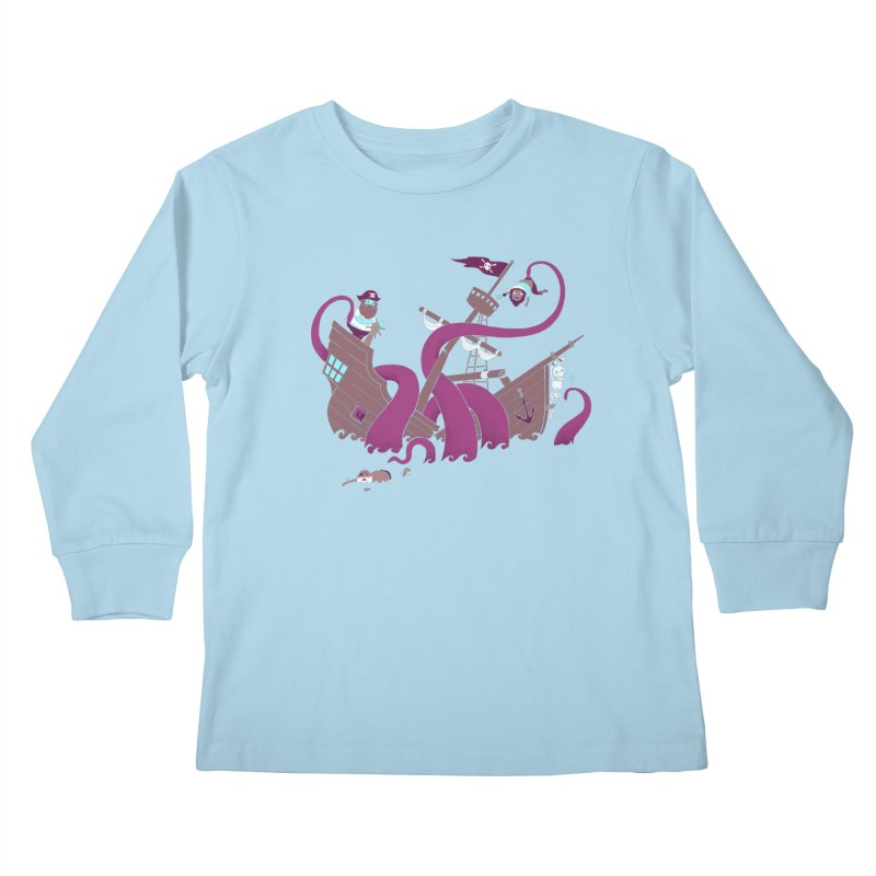 Phil McKraken Kids Longsleeve T-Shirt by Charity Ryan