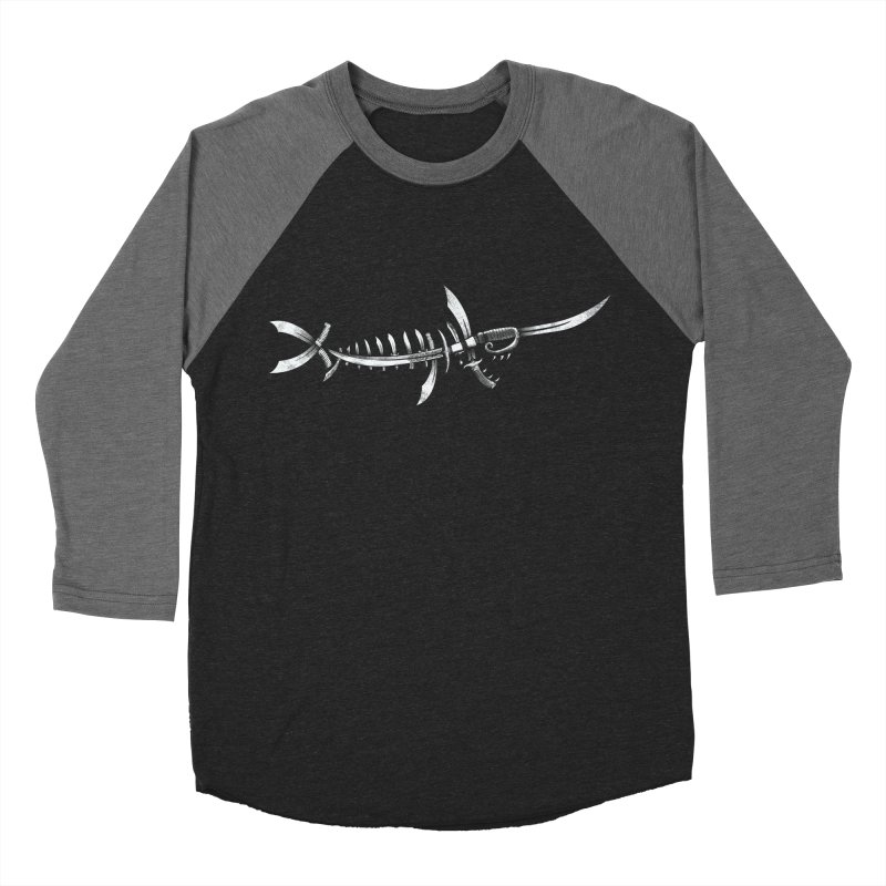 Swordfish Men's Baseball Triblend T-Shirt by Charity Ryan