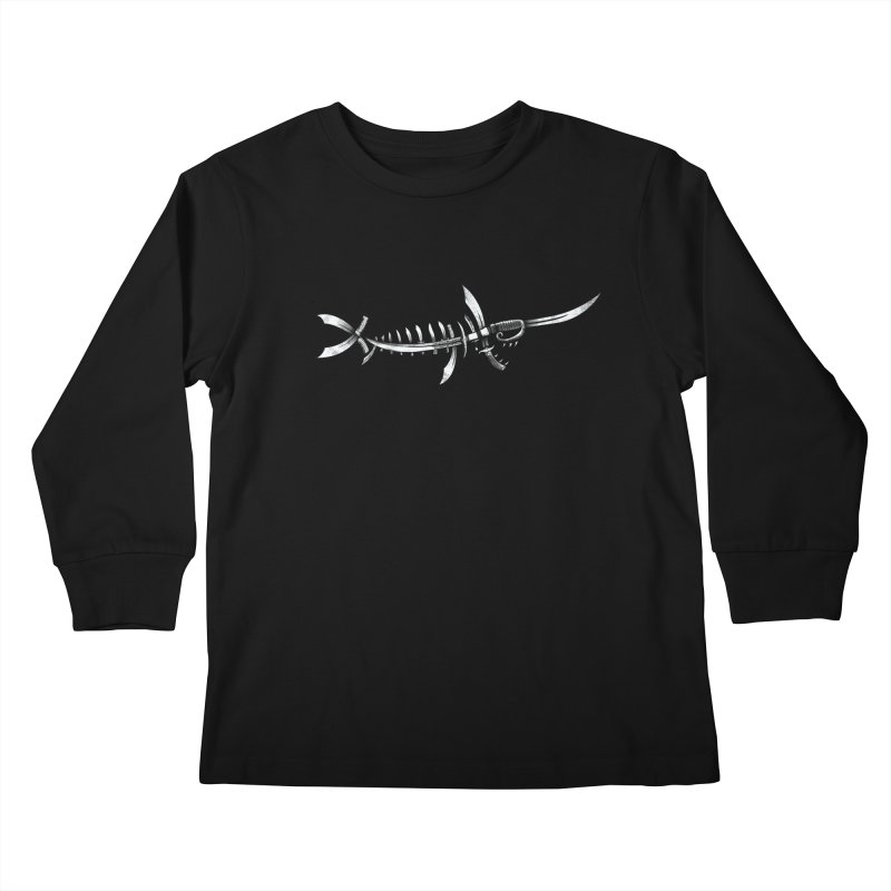 Swordfish Kids Longsleeve T-Shirt by Charity Ryan