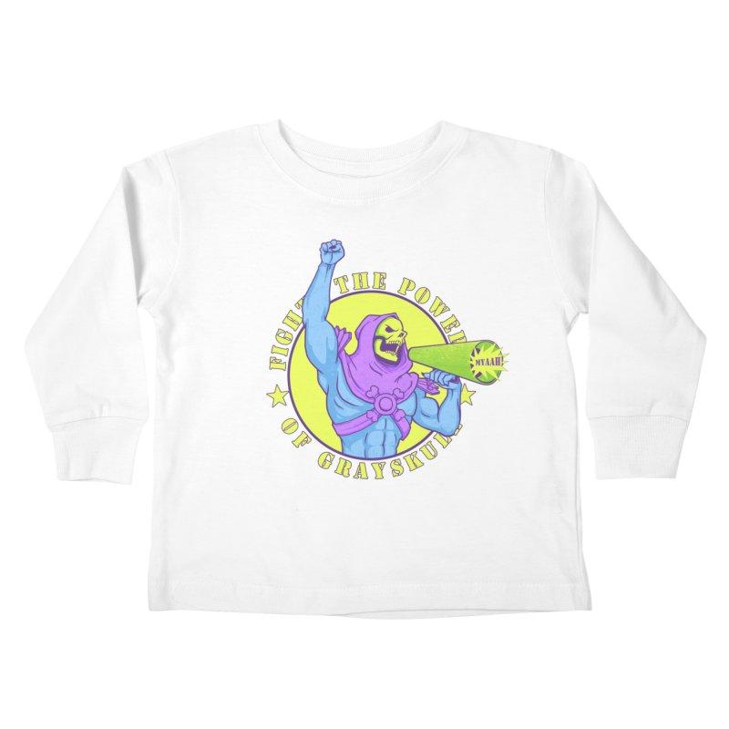 Public Enemy of Eternia Kids Toddler Longsleeve T-Shirt by Charity Ryan